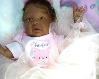 African American, Biracial, Ethnic AA Reborn Realistic Baby Girl Doll