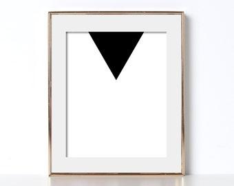 Triangle Print Art Digital Download Modern Art Print Black and White Wall Print Minimalist Geometric Printable Wall Art Minimalist Printable