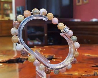 8mm Genuine Ocean Agate Bead Bracelet