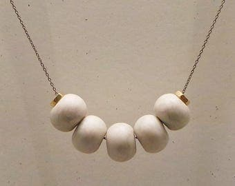 Cinco Necklace: Pearl