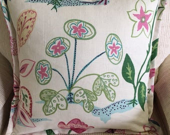 Two Desinger handmade floral throw pillow cover