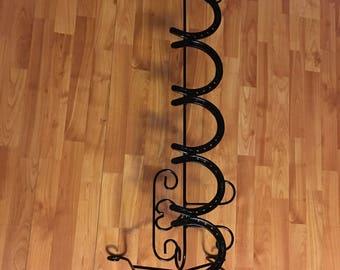3 pair horse shoe boot rack