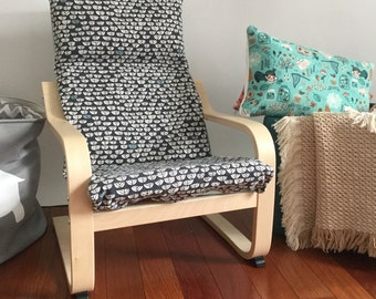 Organic Cushion and Cover for Children's Ikea Poang Chair