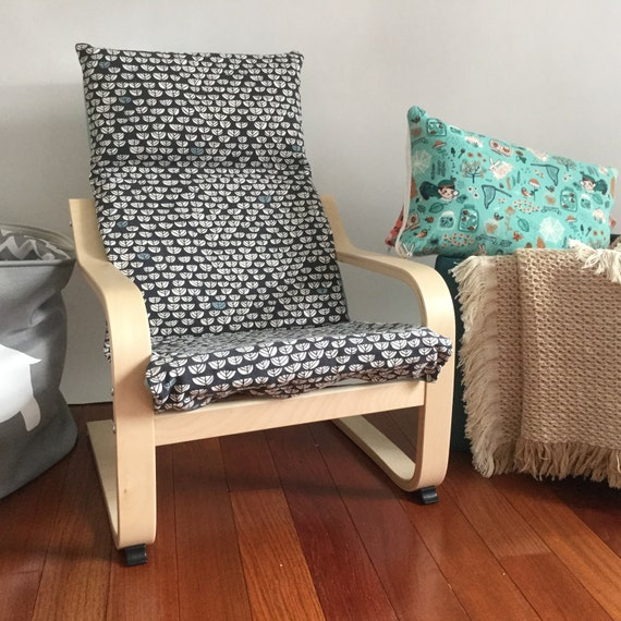 organic cushion and cover for children 39 s ikea poang chair