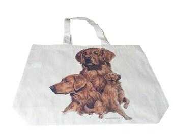 Golden Retriever  Dog  Printed Bag  100% Cotton Tote  Shopper Bag For Life