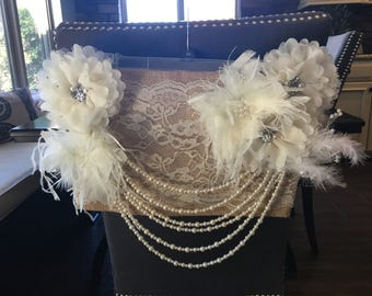 Vintage Inspired Custom Bride's Chair Cover