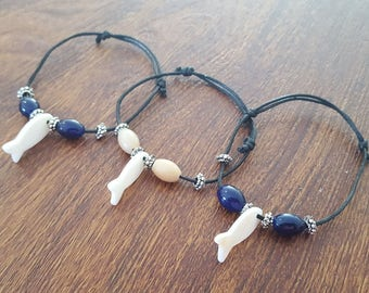 Black Cord Fish Bracelet (Available in 2 Colors)
