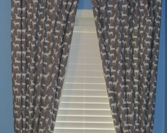 Custom Made Tabbed Fully Lined Curtain Panels
