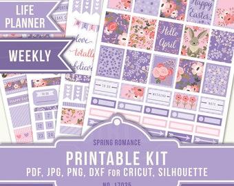 April Planner Stickers, Erin Condren April Sticker Kit, Life Planner Vertical, April Weekly Planner Stickers, Easter Planner, 17035