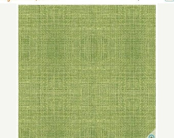 ON SALE Green Burlap Texture Fabric by Red Rooster - A Day on the Farm Fabric
