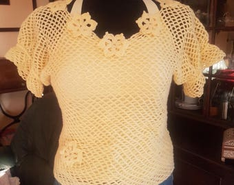 Summer crochet top, crochet blouse