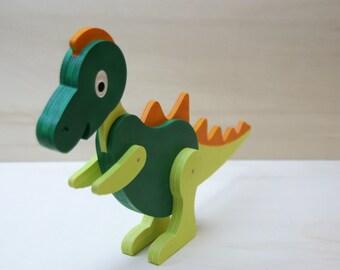 Dinosaurs, wood, painted for children's birthday, art. Nr. DINO_V1_RE_GR