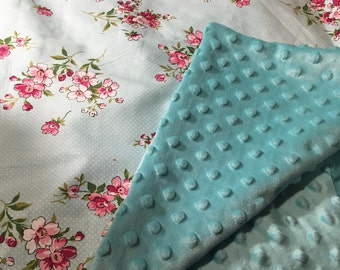 Floral & Dots Baby Blanket and pillow gift set