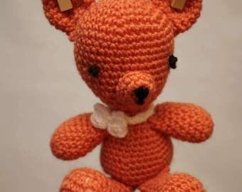 Crocheted Orange Teddy
