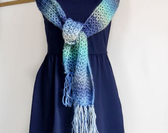Mothers Day Gift | Crochet Scarf | summer scarf | spring scarf | handmade |