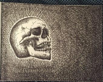 Skull 9x12in Line Art