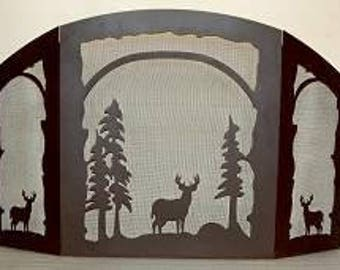 Melinda Fireplace Screen - Deer Design