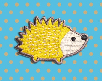 Hedgehog Iron On patch - Patches - Embroidered Patch - Cute Patches - Patches for Jackets - Patch Game - Woodland Animals - Cute gifts