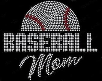 Baseball Mom Rhinestone Iron On Transfer          062914