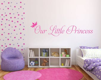 Our little princess / Wall Art Decal Stickers Quality NEW