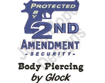 Protected By 2Nd - Machine Embroidery Design