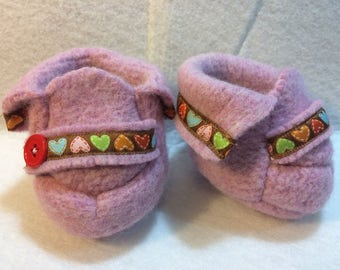 Cabbage Patch Kids Shoes~Pink Hearts