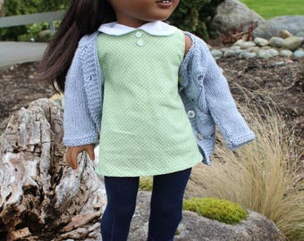 "PRE-ORDER! Spring 2017 ""Bess"" Asymmetrical Sweater for 18"" Dolls"