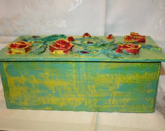 Chest, box out of paper mache