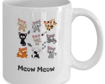 Coffee Mug For Cat Lovers  MEOW MEOW