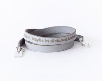 words from the heart leather bracelet