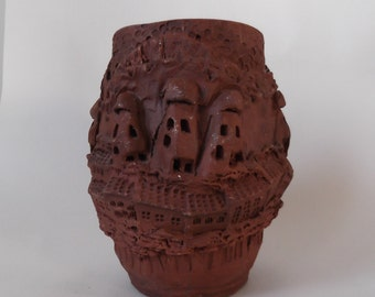 Processed pottery pot from Turkey