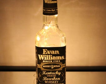 Lighted Evan Williams Whiskey Bottle