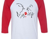 Disney's Beauty and The Beast Silhouette Unisex Tshirt