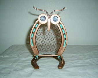 Beautiful hand made welded Owl