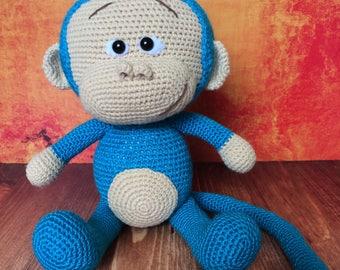 Crochet amigurumi monkey, stuffed monkey, animal toy monkey, monkey baby shower, unusually gift, monkey gift
