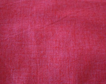 24 Coral Cotton Chambray like fabric Vintage