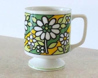 Vintage Floral Tea Cup Mug