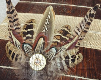 Small Pheasant Feather Hair Clip