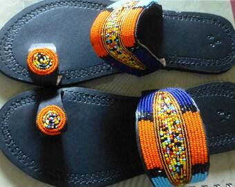 Masai Beaded Sandal