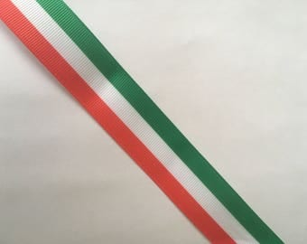 1 Yard (0.91 metre) Italy Flag Colours Grosgrain Ribbon 25mm Wide,Ideal for Craft Projects, Cakes Scrapbooking