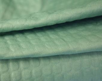 Herbal Green Embossed Fabric