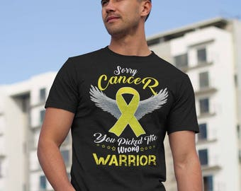 Sarcoma Bone Cancer Awareness Tshirt Warrior Yellow Ribbon Gift Support Fighter Survivor T-shirts Strong Fighting Supporter Apparel Tee