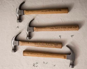 PERSONALISED HAMMER, perfect and useful gift for men, Fathers Day, Birthday, Christmas - DIY lovers!
