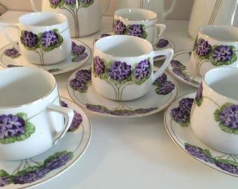 6 The Coffee service people-Vineta Zeh. Scherzer & Co Limoges China-Liberty-