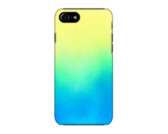 Flouro Yellow blue iphone case