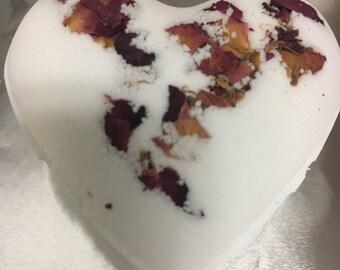 Natural Aromatherapy Heart Shaped Bath Bomb