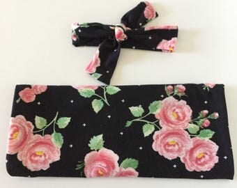 Floral Rose Swaddle, Sleep Sack, Baby Sleeping Bag, Cocoon Swaddle, Baby Blanket