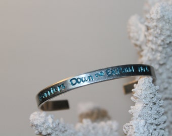 Barriers Down~Expand Out personalized, hand made bracelet