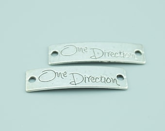 20pcs 10x39mm Antique Silver One Direction Charm Pendants,One Direction Connectors,Letter Charms Pendants Connectors Z727