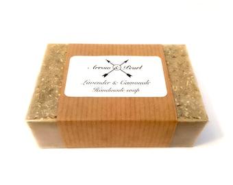 Lavender & Camomile Tea Scented Handmade Goats Milk Bar